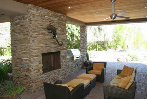 outdoor patio fireplace - Patio Fireplace Designs