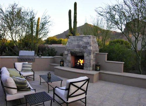 Outside Stone Fireplace Ideas: Indoor & Outdoor Fireplace Designs