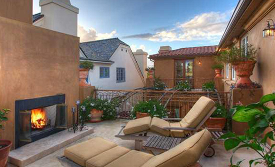 Fireplace on Roof Deck