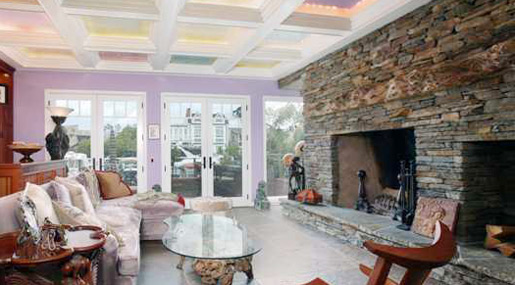 Huge Stone Fireplace