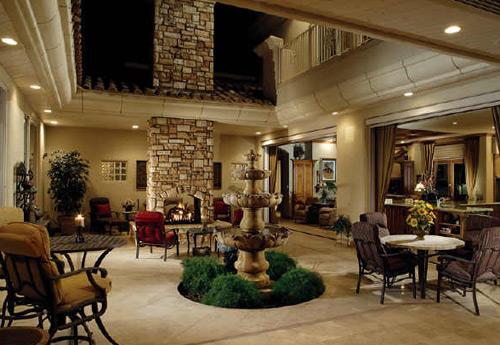 Tall Patio Fireplace