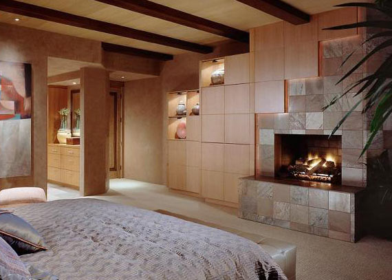 Indoor outdoor fireplace designs gorgeous gas wood Bedroom fireplace ideas