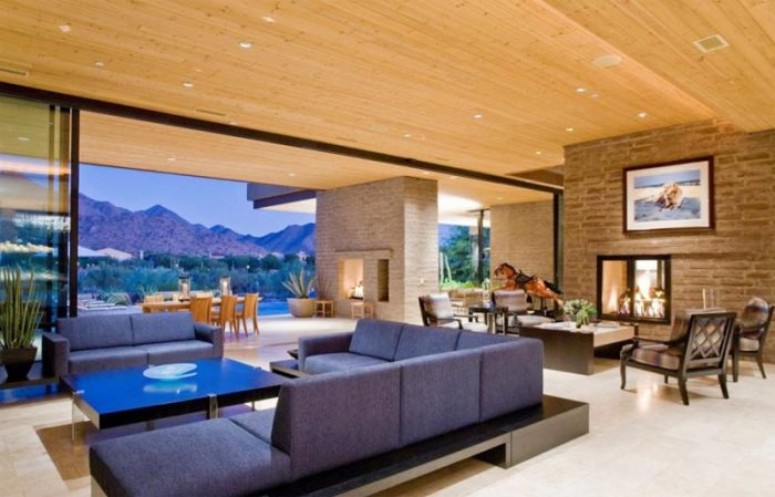 Indoor & Outdoor Fireplace